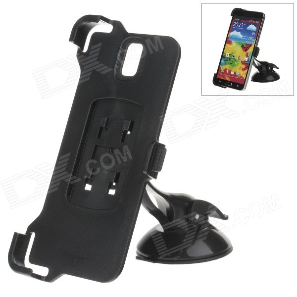 H60 360 Degree Rotation Holder Mount Bracket w/ Suction Cup for SAMSUNG NOTE 3 N9006 - Black 360 degree rotational car mount holder w suction cup for samsung galaxy note 3 n9000 n9002