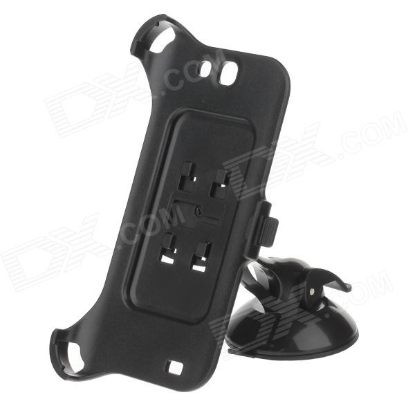 H60 360 Degree Rotation Holder Mount Bracket w/ Suction Cup for Samsung NOTE 2 N7100 - Black 360 degree rotational car mount holder w suction cup for samsung galaxy note 3 n9000 n9002