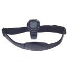 "1,5 ""-LCD-Sport Rubber Band Digital Wireless Heart Rate Monitor Watch w / elastischem Brustgurt - Schwarz"