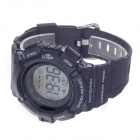 "1.5"" LCD Sport Rubber Band Digital Wireless Heart Rate Monitor Watch w/ Elastic Chest Belt - Black"