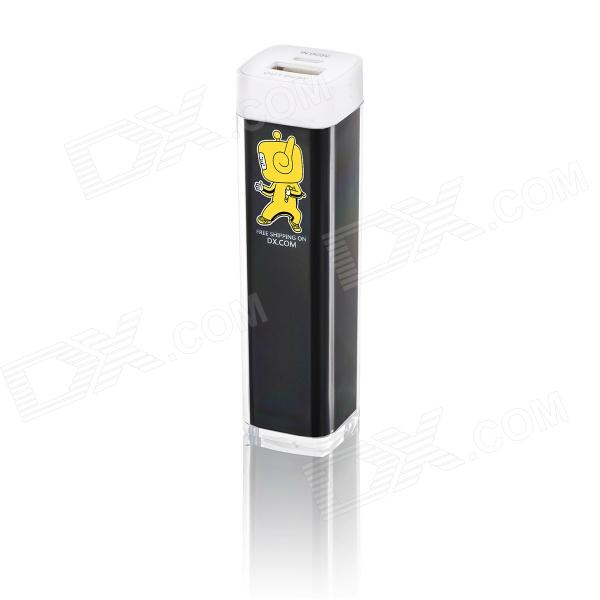 2600mAh DXman Mobile Power Bank Tube - Black + Yellow (Kung Fu Style)