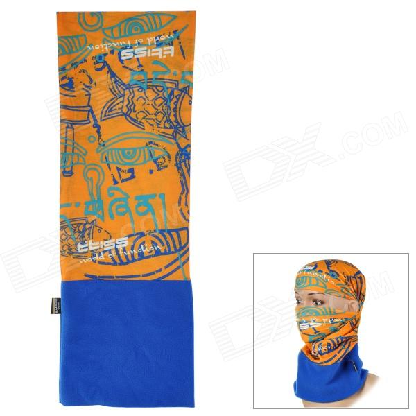 SAHOO 46866 Outdoor Fleeces Headscarf - Deep Blue + Orange - DXBike Accessories<br>Color Deep Blue Brand SAHOO Model 46866 Quantity 1 Piece Material Fleeces Gender Unisex Best Use Cycling Waterproof No Type OthersHeadscarf Packing List 1 x Headscarf<br>