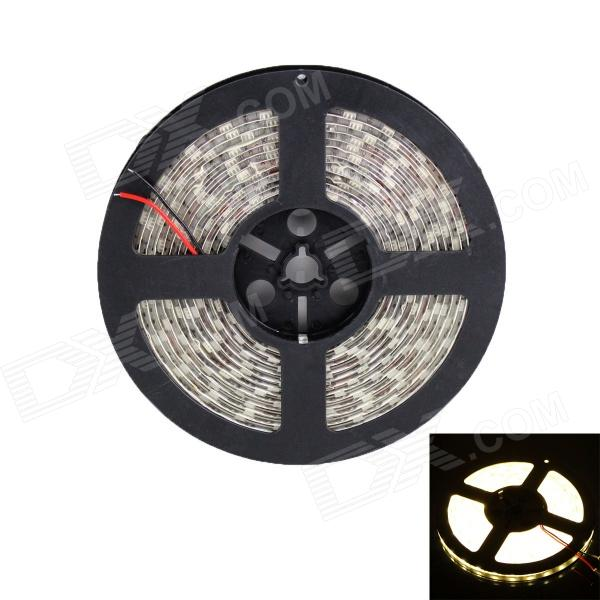 72W  300 x SMD 5050 LED Warm White Waterproof Car Decoration Light Strip (12V / 5m) zdm waterproof 72w 200lm 470nm 300 smd 5050 led blue light strip white grey dc 12v 5m
