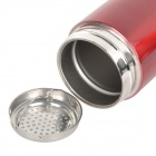 SAHOO 52263 Stainless Steel Dual-Layer Water Bottle - Red (350ml)