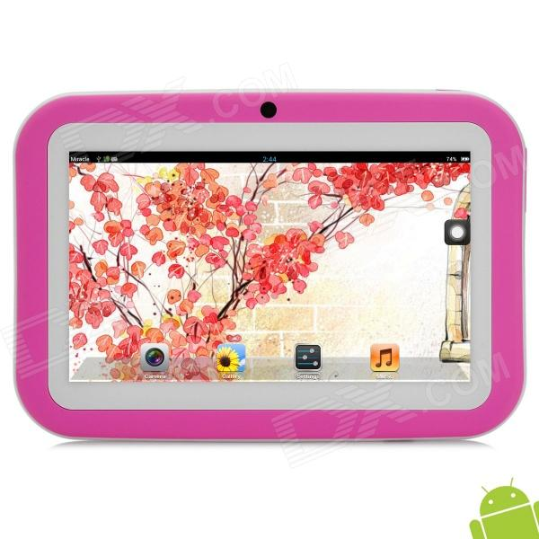 BENEVE ARM-MM 7 Android 4.2 Dual Core Tablet PC w/ 1GB RAM / 8GB ROM for Kids - Pink + White