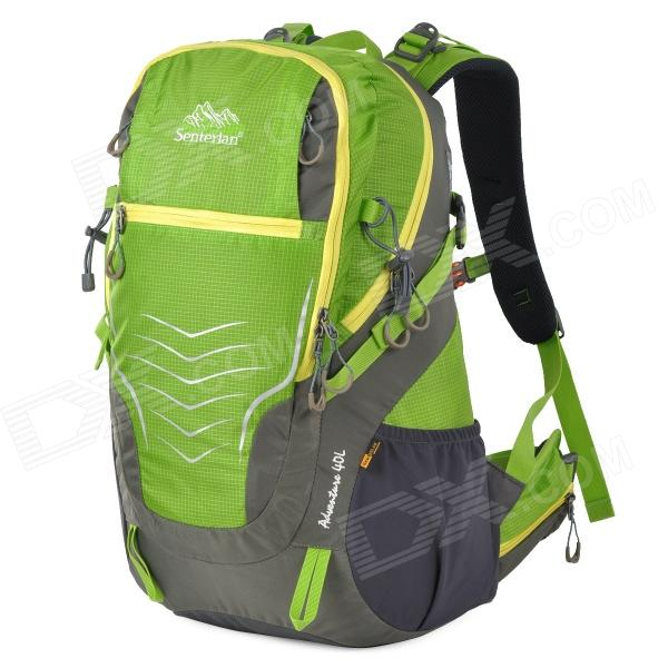 Senterlan S2366 Outdoor Mountaineer Backpack - Green + Grey (40L)