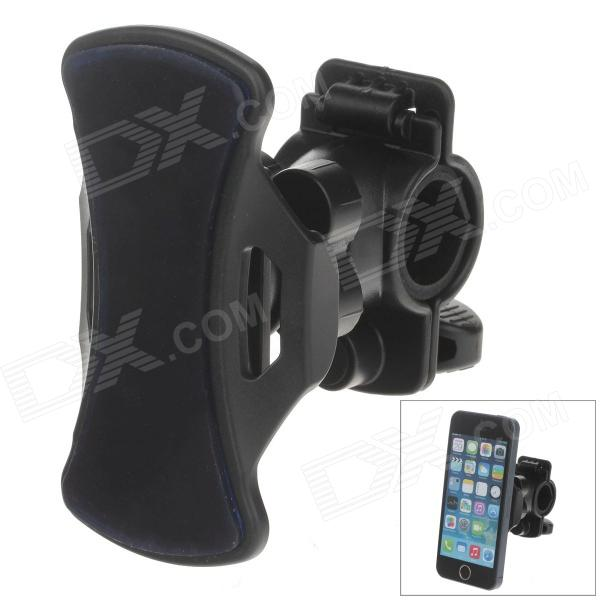 M01 360 Degree Rotation Bracket w/ C71B Paste Back Clamp for Mobile Phone - Black + Blue
