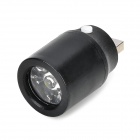 YFY-DT01 2W 20lm 7000K 1-LED USB Portable Lamp - Black + Silver (5V)