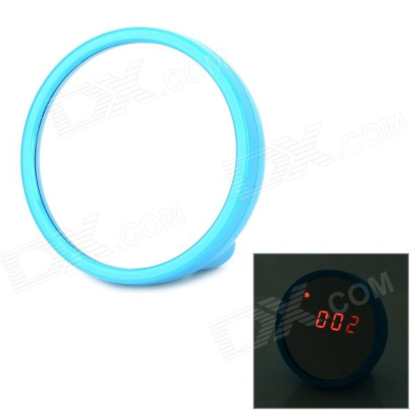 Plastic Digital Beauty Mirror Style Clock - Blue (2 x AAA)