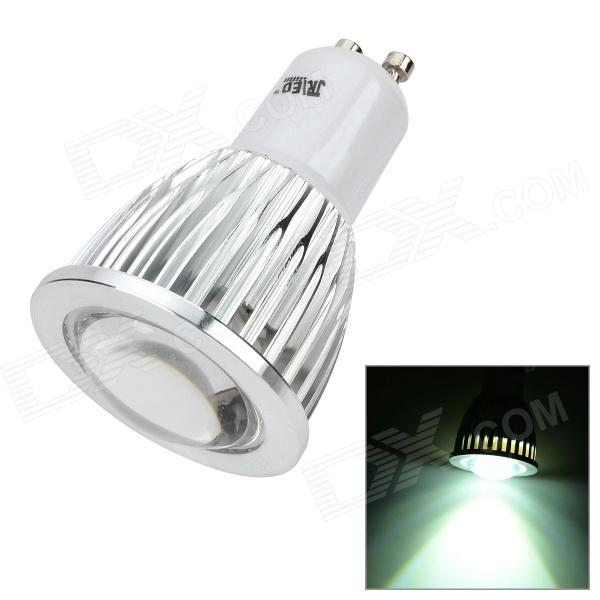 JRLED 5W 350lm 6500K 1-LED COB White Light Spotlight - White + Silver (AC 85~265V) jrled gu10 5w 330lm 6500k white light led spotlight lamp silver white ac 85 265v 5pcs