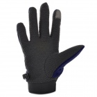 Emintribe Outdoor Anti-slip Full-finger Gloves - Deep Blue (L)