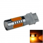 3157 / 3156 7.5W 500lm 5-LED Orange Car Brake / Backup / Reversing / Steering Light Lamp (12~24V)