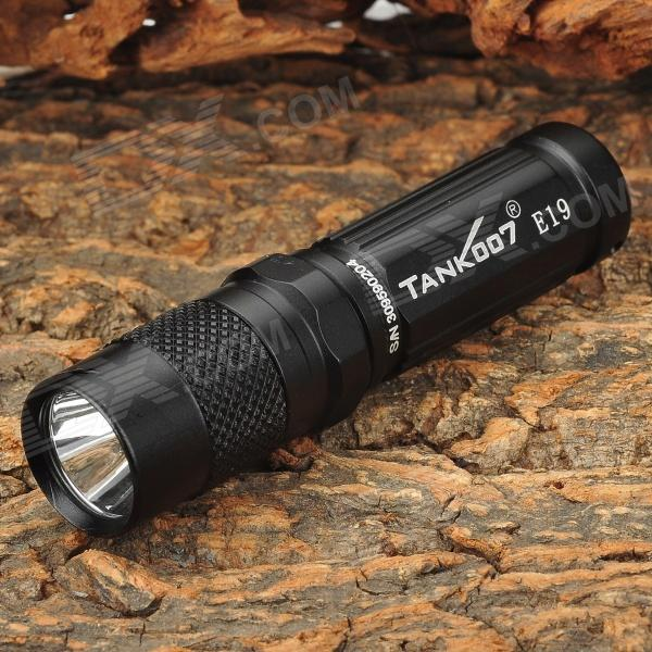 TANK007 E19 Portable 180lm 1-LED 1-Mode White Light Flashlight - Black (1 x AA/14500)