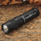 TANK007 E19 Portable 180lm 1-CREE 1-Mode White Light Flashlight - Black (1 x AA/14500)