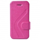 Dikuka Stylish Protective PU Leather Case Cover Stand for Iphone 5 / 5s - Pink
