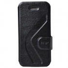 Dikuka Stylish Protective PU Leather Stand Case for Iphone 5 / 5S - Black