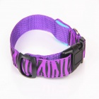 Leopard Grain Adjustable Reflective Light LED Strip Pet Safety Collar - Purple (S)