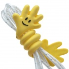 SP-008 Little Hand w/ Smile Face Style Cartoon Cable Winder/ Organizer - Yellow