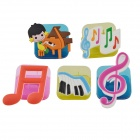 DEDO Stationery Gifts MG-14 Colorful Paper Clips Acrylic Paper Clips Music Symbols Clips (5 PCS)