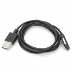 ot-039 Magnetic USB 2.0 Charging Cable for Xperia Z1 L39H - Black (1m)