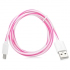 High Quality Micro USB Male to USB 2.0 Male Charging/Data Cable for LG - Deep Pink + White (100cm)