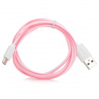 High Quality Micro USB Male to USB 2.0 Male Charging/Data Cable for LG - Pink + White (100cm)