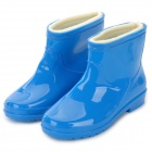 Fashion Waterproof Warm PVC + Cotton Rain Boots - Blue (Size 37 / Pair)
