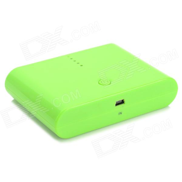 AJY-MAN TOU 12000mAh Power Bank w/ 3 Charging Adapters for Cell Phone / Tablet PC - Green 5200mah mini rechargeable mobile power bank for cellphone tablet pc more blue white