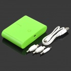 "AJY-MAN TOU ""12000mAh"" Power Bank w/ 3 Charging Adapters for Cell Phone / Tablet PC - Green"