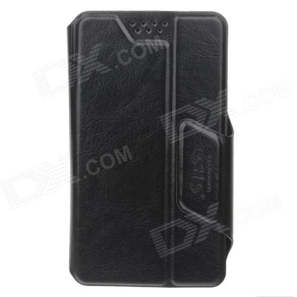 SHS Stylish Adjustable Protective PU Leather Case Cover Stand for Iphone 4S / 5 /5c - Black (Size-S)