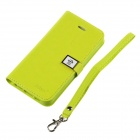 HELLO DEERE Ailun series PU Leather Case Cover w/ Card Slot / Strap for Iphone 5 / 5s - Green