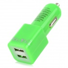 YI-YI Car Charger w/ USB 3.0 Data/Charging Woven Cable for Samsung Galaxy Note 3 N9006 - Green