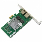 Winyao WYI350T PCIe X1 Desktop Dual Port Gigabit Network Card Adapter Intel I350 Chipset