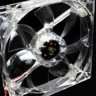 WT-001 4-LED Red Light 635 ~ 700nm 3-Pin ordinateur machine Box Ventilateur - Transparent (12cm)