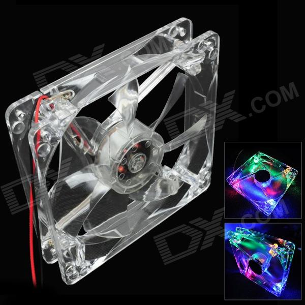 WT-001 4-LED RGB 3-Pin Computer Machine Box Cooling Fan - Transparent (12cm) indesit tt85 001 wt