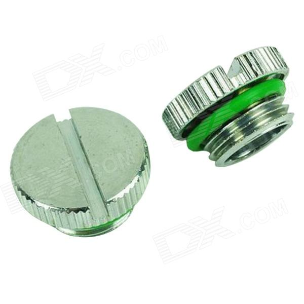 WT-043 Nickel Plated Cooling Plug - Silver + Green