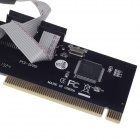 PCI to COM Dual Rs232 Serial Io Port Card Adapter 2 Port 9 Pin - Black + Silver