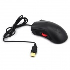 FCN X2 1000dpi USB 2.0 Wired Left Scroll Mouse - Black (140cm-Cable)