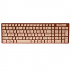 Sibyl J-1 Stylish USB Wired 106-Key Water-proof Keyboard - Brown (135cm-cable)