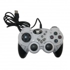 JINNIU USB 2.0 Wired Vibration Game Controller - White + Black (140cm-Cable)