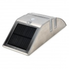 0.3W / 0.17W 6500K 50lm 2-White LED Solar Power Sensing Wall Lamp - Prata (3.2V)
