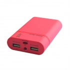 HH-141 Portable 8400mAh External Battery Charger Power Source w/ LED Indicator for Iphone -Deep Pink