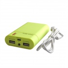 HH-141 Portable 8400mAh Battery Charger Power Source w/ LED Indicator for Iphone -Fluorescent Yellow