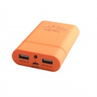HH-141 Portable 8400mAh External Battery Charger Power Source w/ LED Indicator for Iphone - Orange