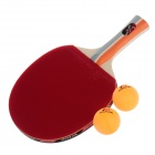 NINJA N2002 Sports 2 Star Table Tennis Paddles with 2 Ping-Pong Balls - Blue + Red + Orange