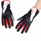 HandSkin GF-03 Outdoor  Anti-slip Shock Absorbing Glove for Cycling - Black + White + Red (L)