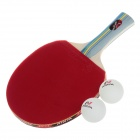NINJA N1002 Sports 1 Star Table Tennis Paddles with 2 Ping-Pong Balls - Blue + Red + Yellow