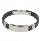 Decompression Anion Silica Gel Non-Allergy Bracelet - Silver + Black