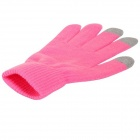 Capacity Screen Touch Gloves for iPhone, iPad, iPod - Pink (Free Size)