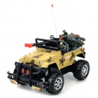 E2XD 329 4-CH 27MHz  R/C Military Off-road Car w/ Lamp